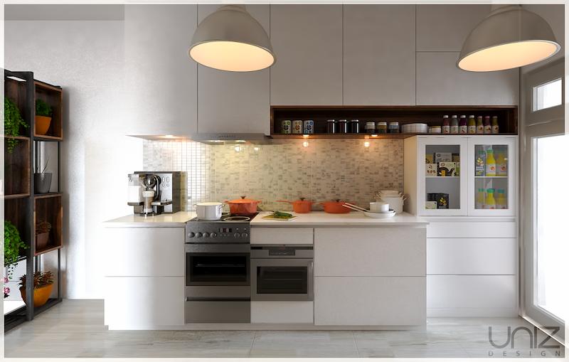 UNIZ Thiết kế kiến trúc nội thất Buôn Ma Thuột. Nội thất bếp