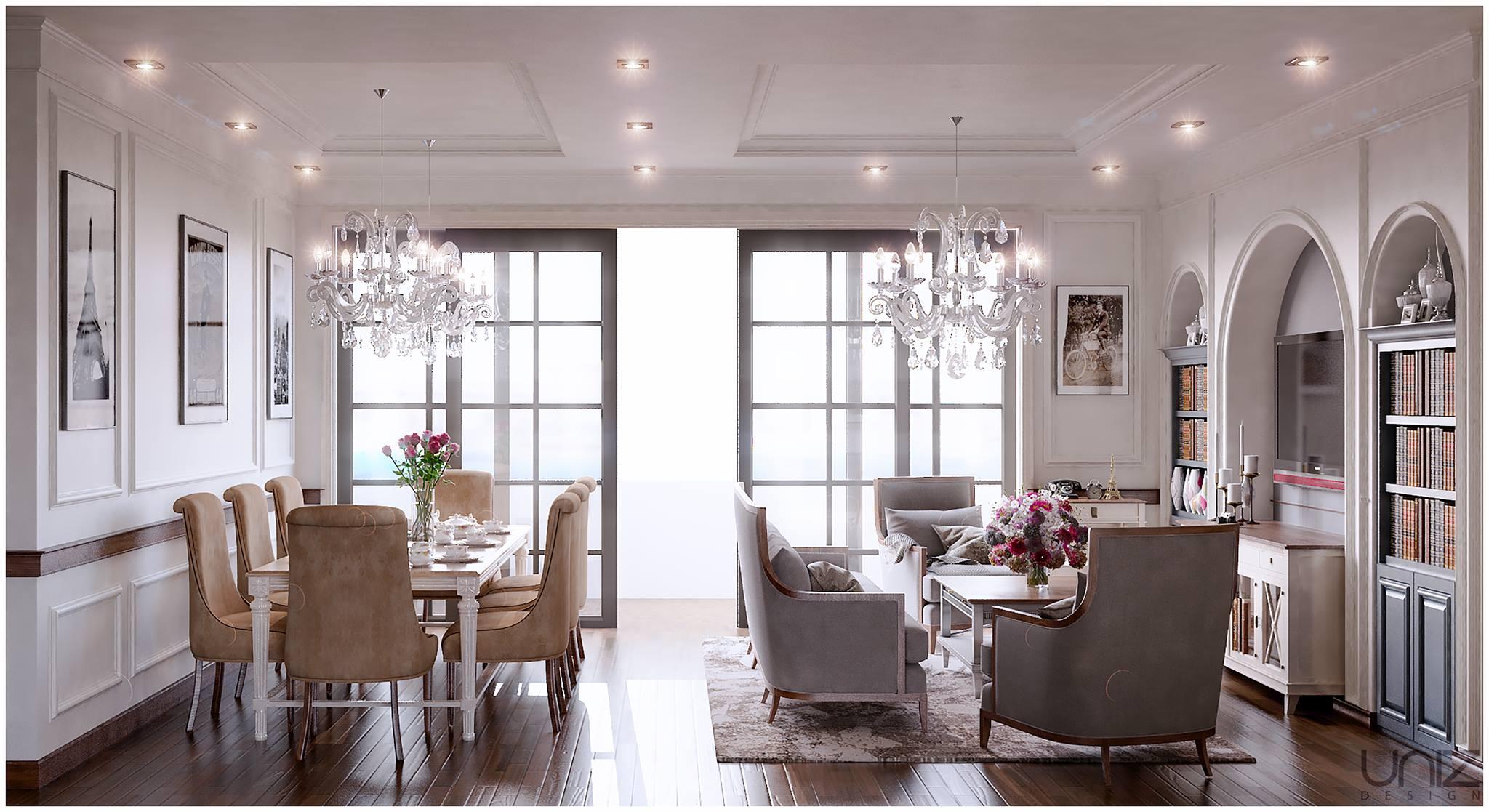 UNIZ Thiết kế kiến trúc nội thất Buôn Ma Thuột. Nội thất phòng khách
