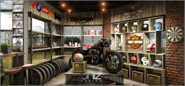 """Cafe Racer Shop & Coffee - Một thiết kế đậm chất """"đàn ông"""". Nơi hội tụ của tín đồ dòng xe Cafe Racer"""